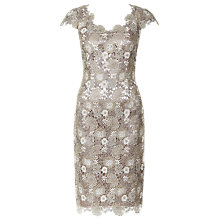 Buy Jacques Vert Tri-Colour Lace Dress, Champagne Online at johnlewis.com