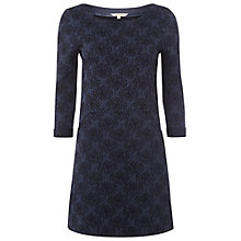 Buy White Stuff Blossom Jacquard Tunic, Navy Online at johnlewis.com
