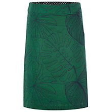 Buy White Stuff Geo Jungle Embroidery Skirt, Cactus Green Online at johnlewis.com