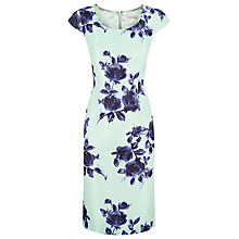 Buy Jacques Vert Floral Print Dress, Multi Green Online at johnlewis.com