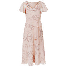 Buy Jacques Vert Rose Print Fit and Flare Dress, Multi Pink Online at johnlewis.com