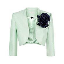 Buy Jacques Vert Corsage Trim Bolero Jacket, Light Green Online at johnlewis.com