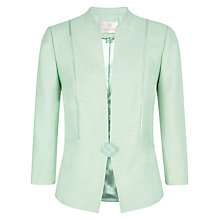 Buy Jacques Vert Ribbon Button Jacket, Light Green Online at johnlewis.com