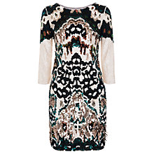 Buy French Connection Gypsy Moth Sequin Dress, Summer White/Multi Online at johnlewis.com