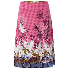 Buy White Stuff Parakeets Reversible Skirt, Petal Pink Online at johnlewis.com