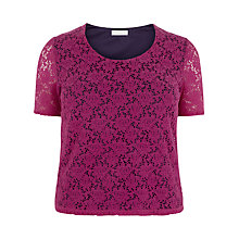 Buy Windsmoor Floral Lace Top, Mid Pink Online at johnlewis.com