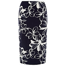 Buy Windsmoor Flower Straight Skirt, Multi Navy Online at johnlewis.com