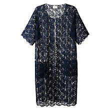 Buy East Lace Longline Jacket, Navy Online at johnlewis.com