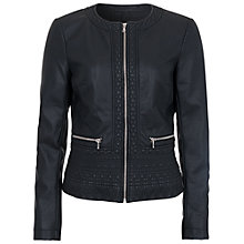 Buy French Connection Collarless Jacket, Black Online at johnlewis.com