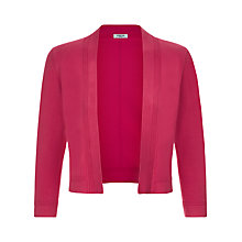 Buy Precis Petite Ripple Stitch Shrug, Mid Pink Online at johnlewis.com