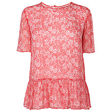 Buy L.K. Bennett Jaxon Panelled Top, Jelly Bean Online at johnlewis.com