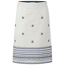 Buy White Stuff Native Island Skirt, White Online at johnlewis.com
