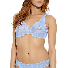 Buy Wacoal Halo Moulded Underwired Bra, Blue Vista Online at johnlewis.com