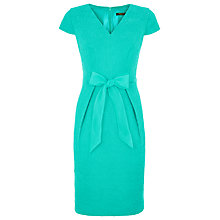 Buy Precis Petite Jacquard Bow Dress, Jade Online at johnlewis.com