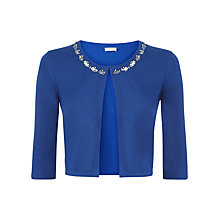 Buy Kaliko Embellished Neck Cardigan, Mid Blue Online at johnlewis.com