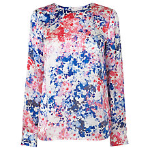 Buy L.K. Bennett Hannah Printed Top, Pink Online at johnlewis.com