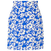 Buy L.K. Bennett Lyda Jacquard Skirt, Cyan Online at johnlewis.com