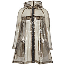 Buy French Connection Angel Hooded Raincoat, Smokey Clear Online at johnlewis.com