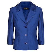 Buy Precis Petite Crinkle Jacket, Bright Blue Online at johnlewis.com