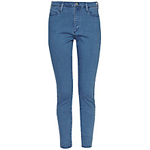 Buy French Connection High Rise Slim Crop Jeans, Mid Blue Online at johnlewis.com