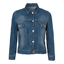 Buy French Connection Shrunken Western Denim Jacket, Mid Vintage Wash Online at johnlewis.com