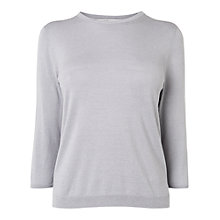 Buy L.K. Bennett Bolsa Crew Neck Jumper, Mist Online at johnlewis.com