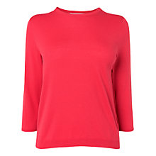 Buy L.K. Bennett Bolsa Crew Neck Jumper, Jelly Bean Online at johnlewis.com