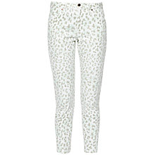 Buy French Connection Printed High Rise Slim Cropped Jeans, Summer White Multi Online at johnlewis.com