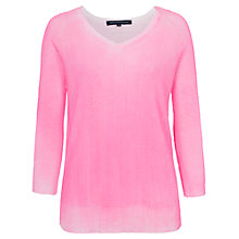 Buy French Connection Lumo Jumper, Fluroescent Pink Online at johnlewis.com