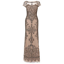 Buy Phase Eight Collection 8 Zita Embellished Dress, Bronze Online at johnlewis.com