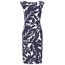 Buy Phase Eight Leaf Print Dress, Navy/Cream Online at johnlewis.com