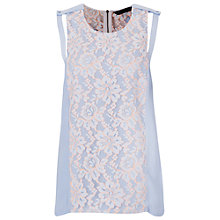 Buy French Connection Fresh Water Round Neck Top, Crystal Clear Online at johnlewis.com
