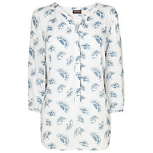 Buy Phase Eight Fan Print Blouse, Ivory/Denim Online at johnlewis.com