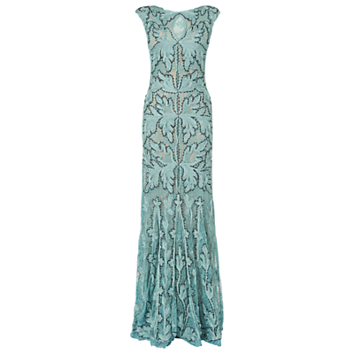 Phase Eight Collection 8 Paige Tapework Dress Sky £260.00 AT vintagedancer.com