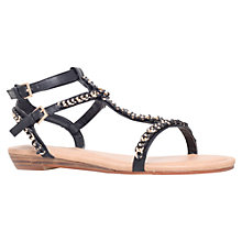 Buy Miss KG Roz Chain Link Flat Sandals, Black Online at johnlewis.com