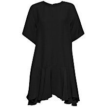 Buy French Connection Downtown Crepe Frill Hem Dress, Black Online at johnlewis.com