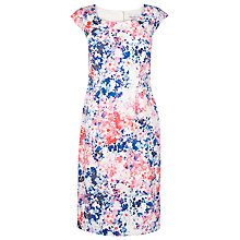 Buy L.K. Bennett Hannah Printed Shift Dress, Pink Online at johnlewis.com