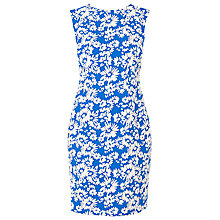 Buy L.K. Bennett Lyda Fitted Jacquard Dress, Cyan Online at johnlewis.com