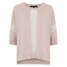 Buy French Connection Summer Ivy Lace Trim Jumper, Barley Sugar Online at johnlewis.com