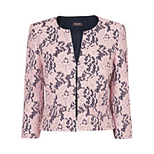 Buy Phase Eight Tiana Lace Jacket, Navy/Powder Online at johnlewis.com