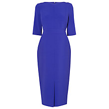 Buy L.K. Bennett Valorie Fitted Dress, Cyan Online at johnlewis.com