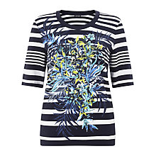Buy Gerry Weber Stripe/Floral T-shirt, Multi Online at johnlewis.com