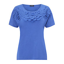 Buy Gerry Weber Applique Petal T-shirt, Cornflower Blue Online at johnlewis.com