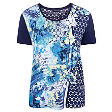 Buy Gerry Weber Geo Print T-shirt, Multi Online at johnlewis.com