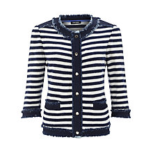 Buy Gerry Weber Stripe Knit Jacket, Navy/White Online at johnlewis.com