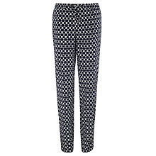 Buy Gerry Weber Geo Print Trousers, Navy Online at johnlewis.com