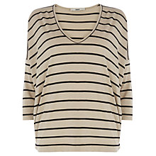 Buy Oasis Striped V Neck Top, Multi Online at johnlewis.com