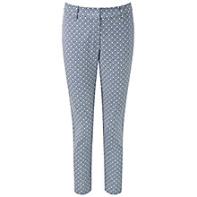 Buy Pure Collection Geo Tile Print Trousers, Blue Online at johnlewis.com