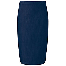 Buy Pure Collection Pencil Skirt, Denim Online at johnlewis.com