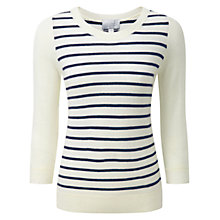 Buy Pure Collection Striped Cashmere Sweater Online at johnlewis.com